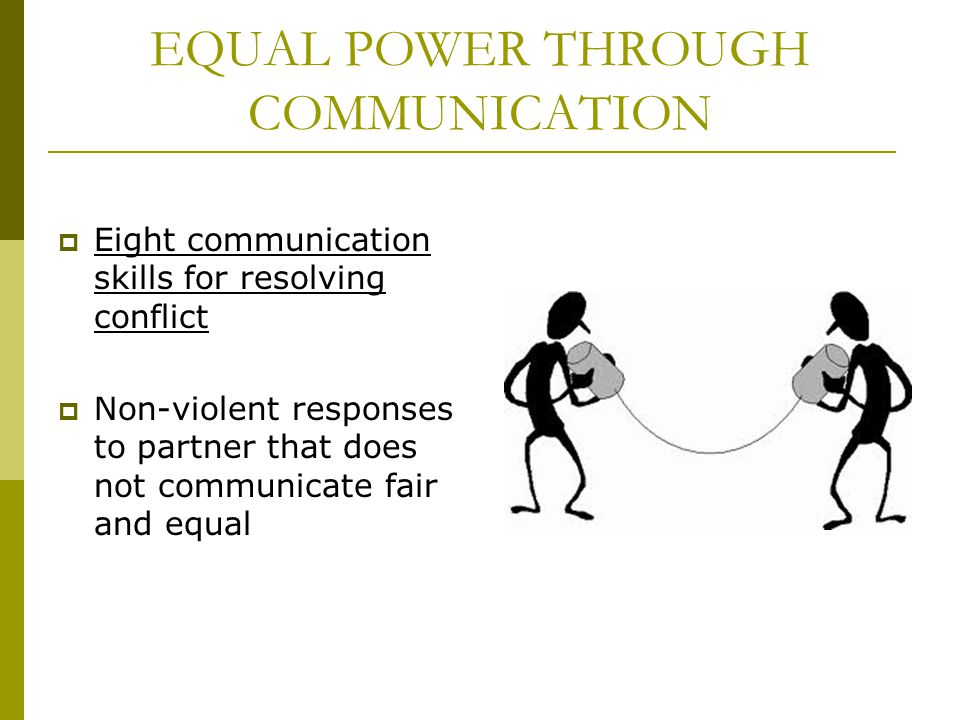EQUAL POWER THROUGH COMMUNICATION