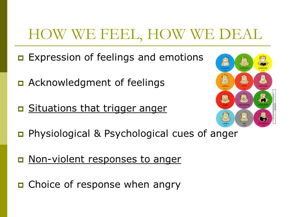 HOW WE FEEL, HOW WE DEAL Expression of feelings and emotions