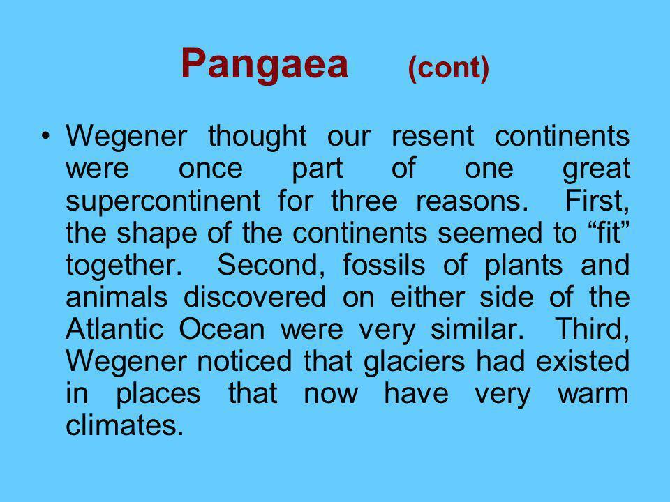 Pangaea (cont)