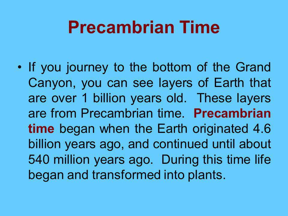Precambrian Time