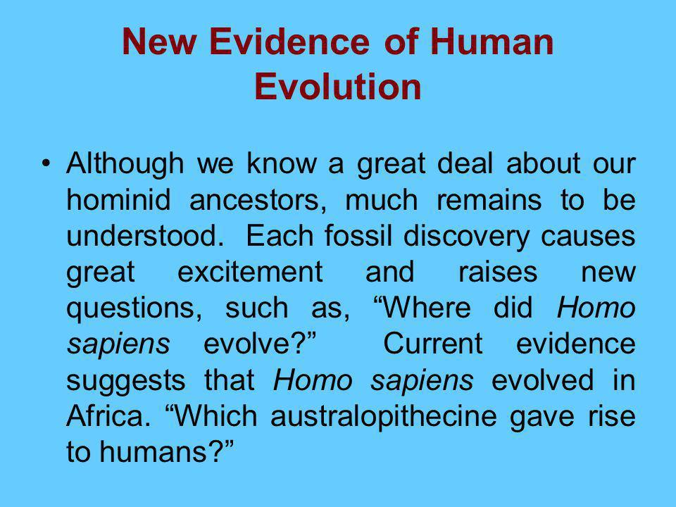 New Evidence of Human Evolution