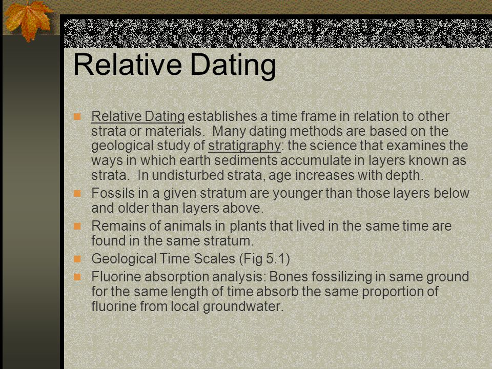 different methods of relative dating
