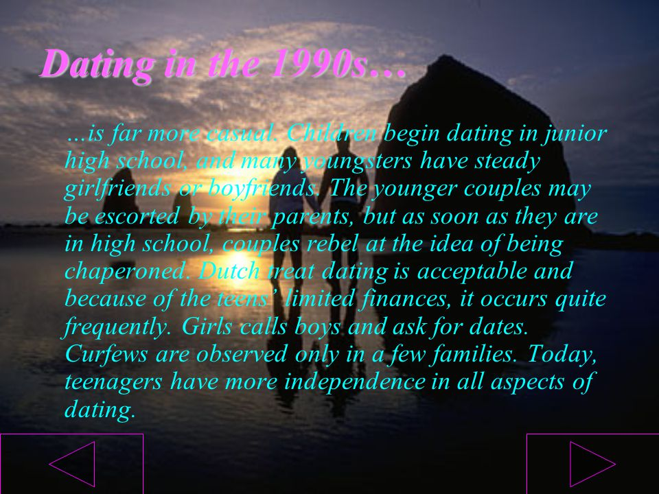 Dating in the 1990s…