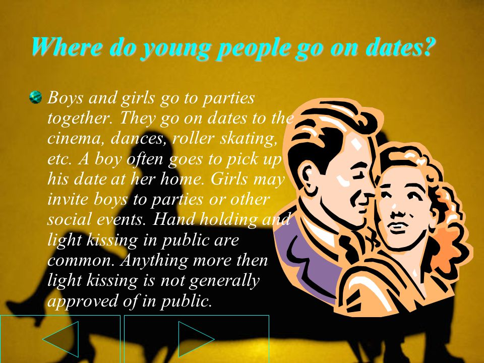 Where do young people go on dates