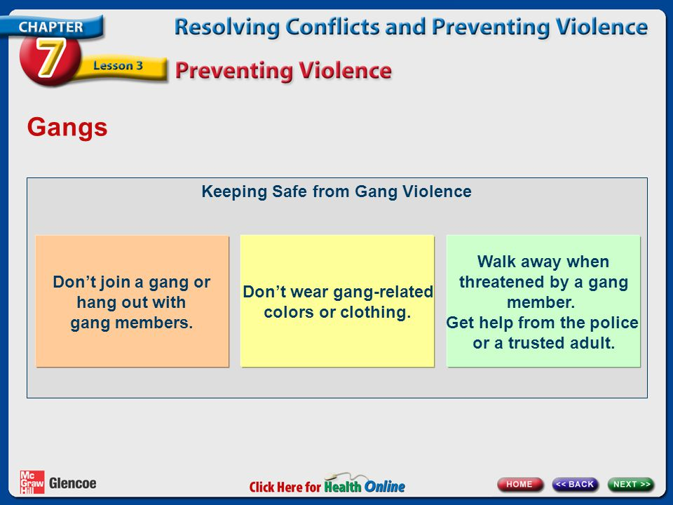 Gangs Keeping Safe from Gang Violence