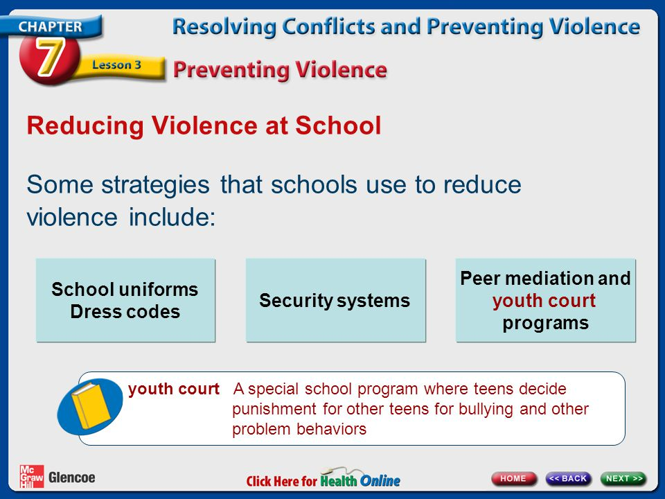 Reducing Violence at School