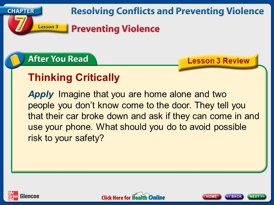 Lesson 3 Review Thinking Critically.