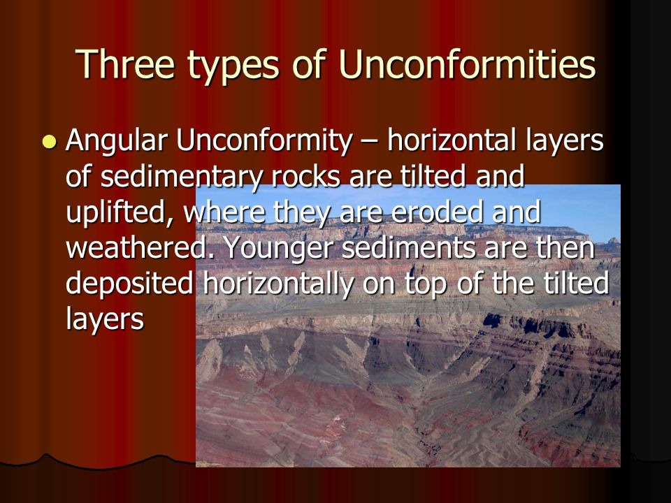 Three types of Unconformities