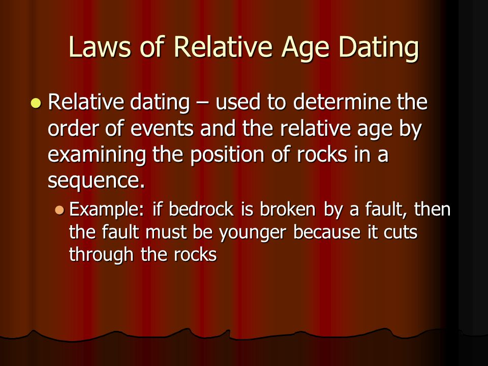 Age dating rule