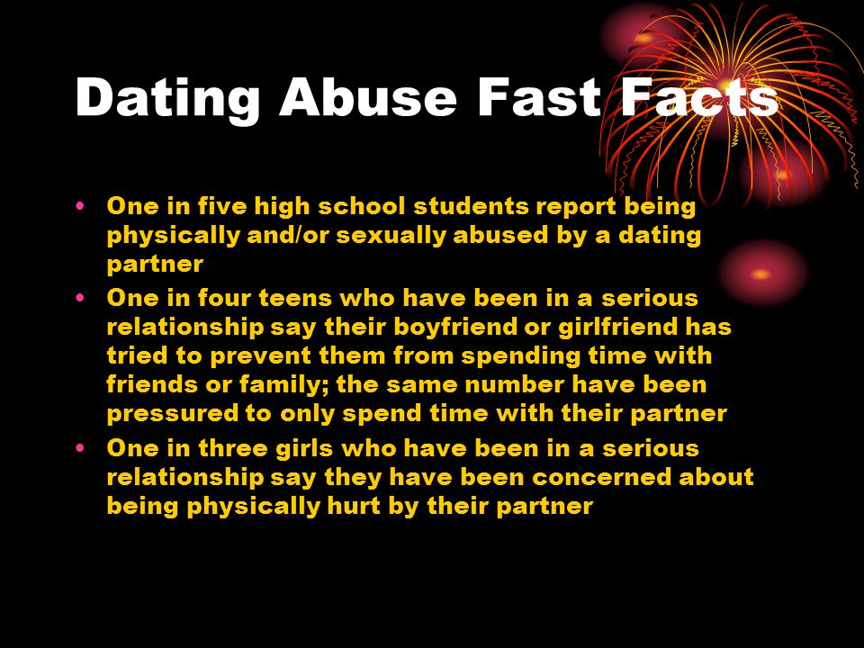 Dating Abuse Fast Facts