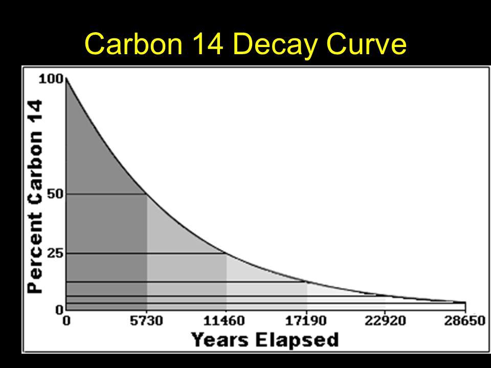 Carbon 14 Decay Curve