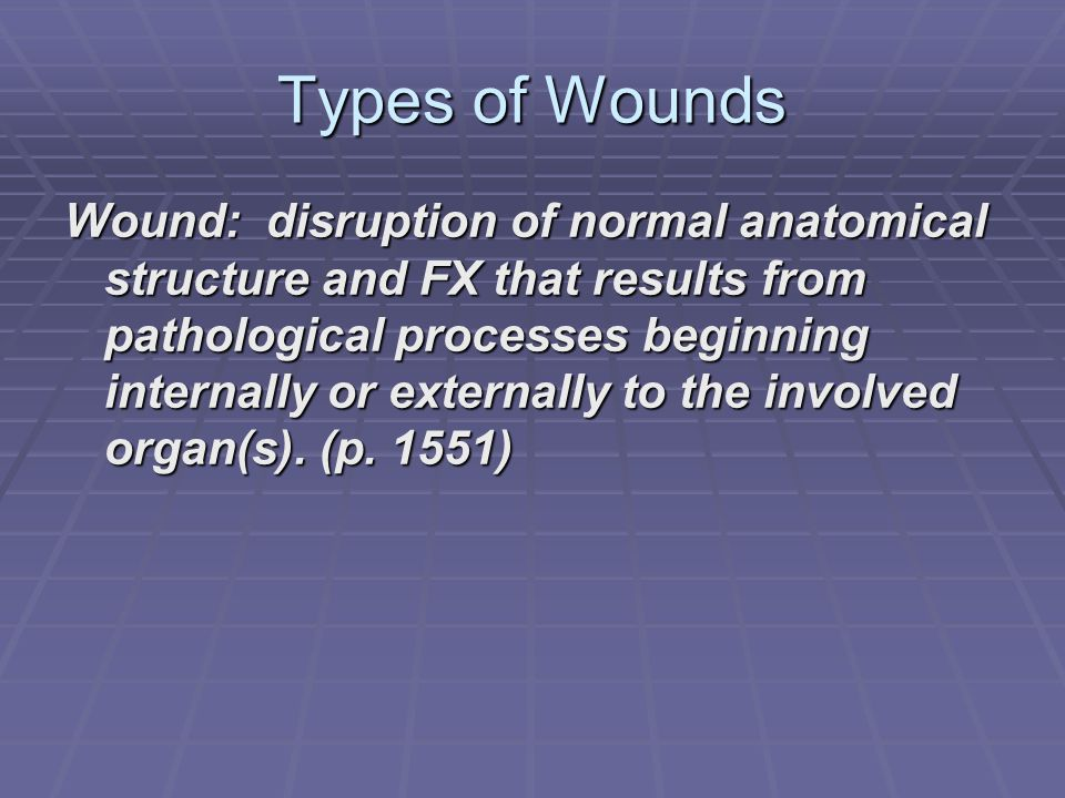 Types of Wounds