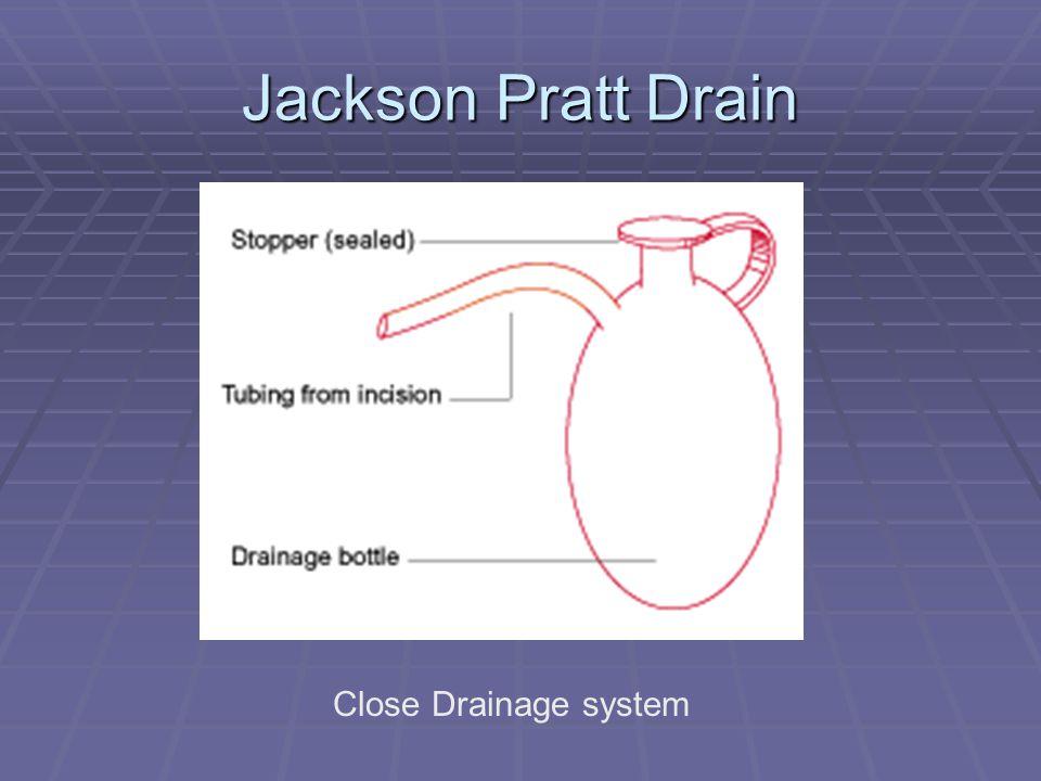 Jackson Pratt Drain Close Drainage system