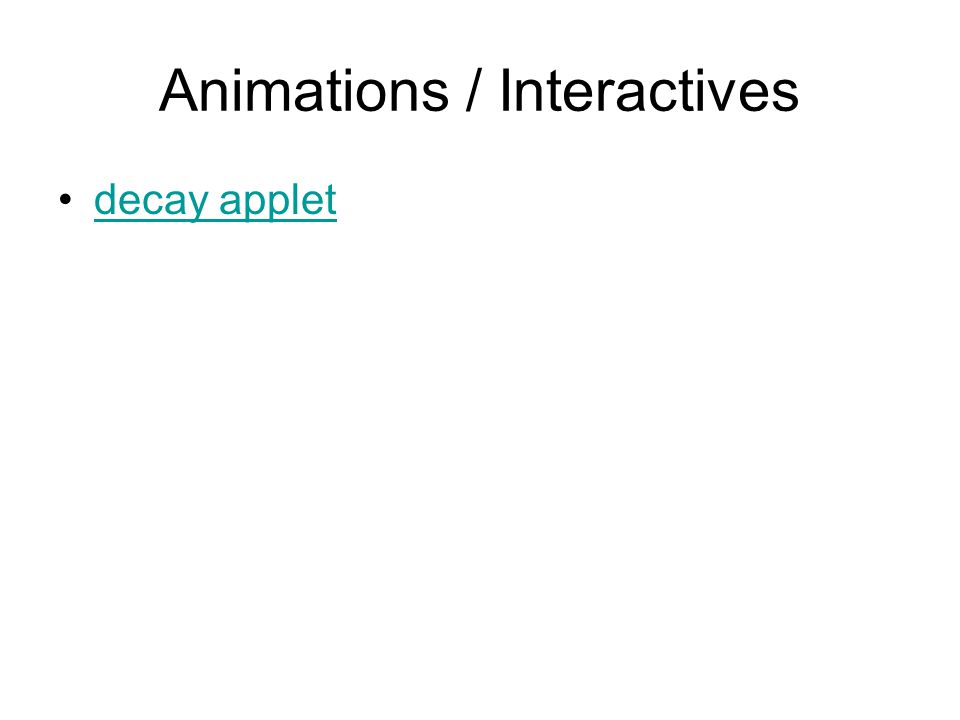 Animations / Interactives