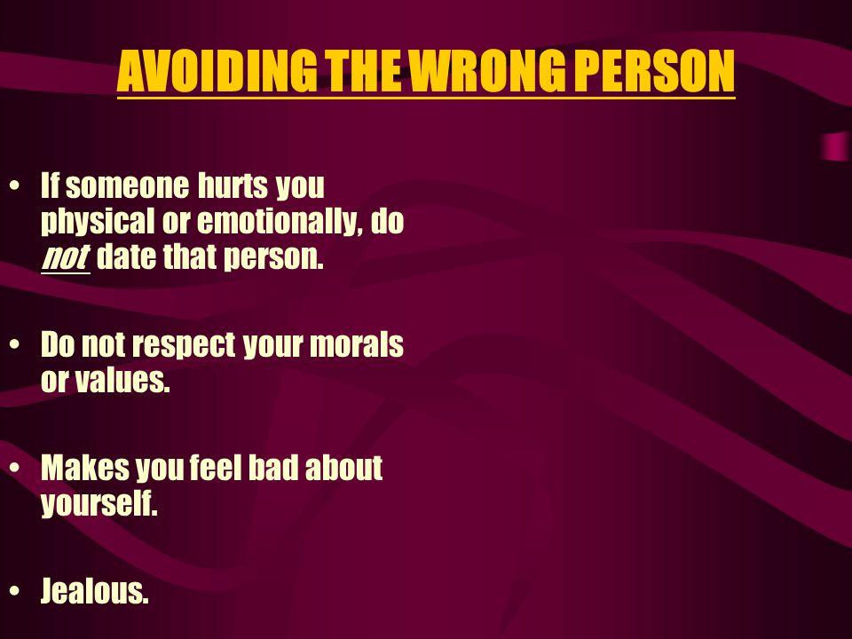AVOIDING THE WRONG PERSON
