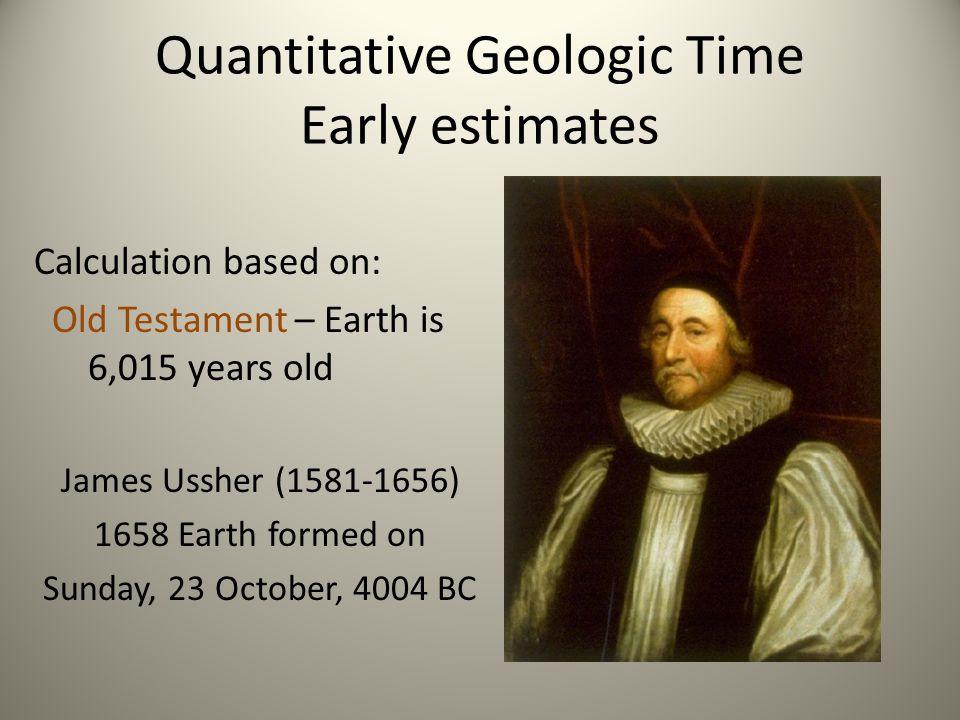 Quantitative Geologic Time Early estimates