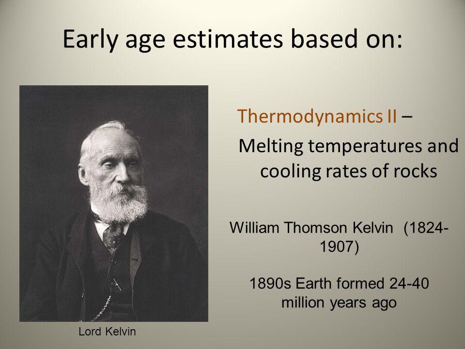 Early age estimates based on: