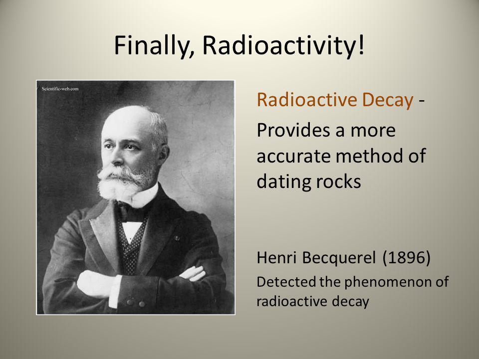 Finally, Radioactivity!