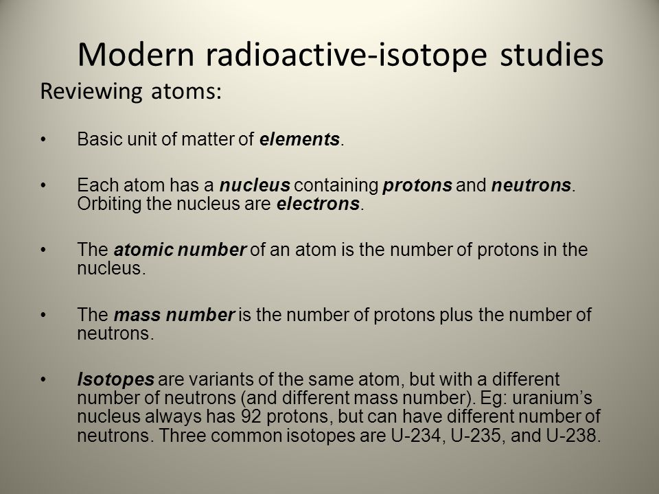 Modern radioactive-isotope studies