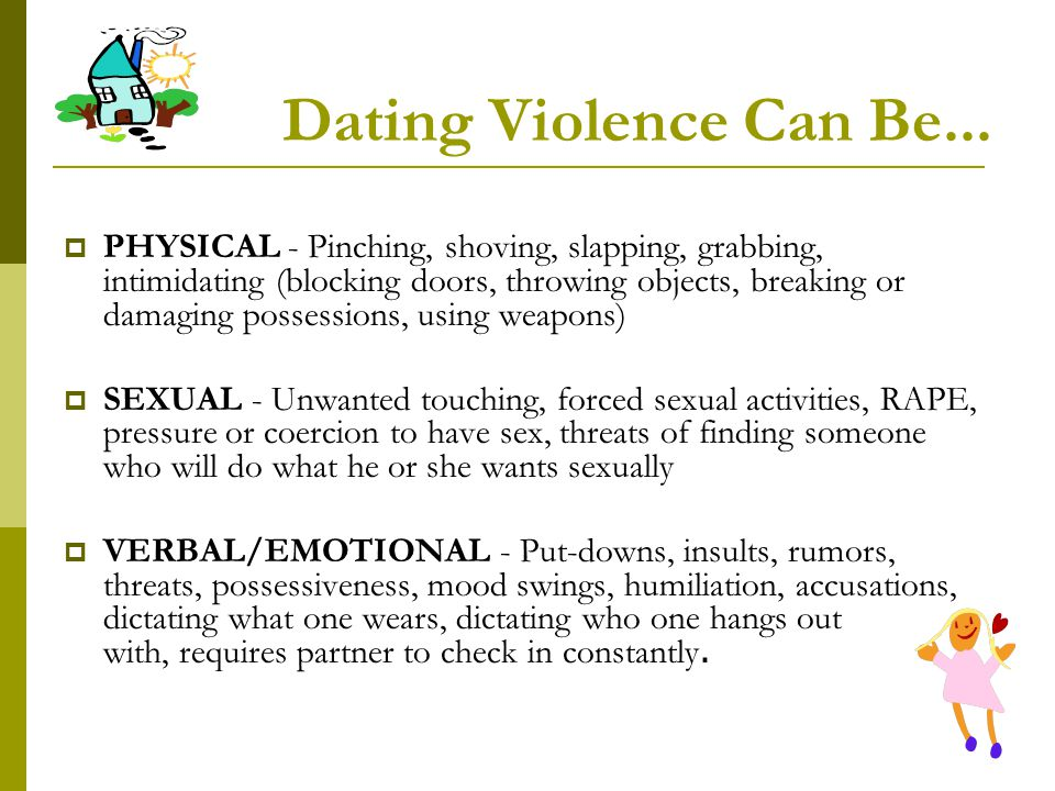 Dating Violence Can Be...