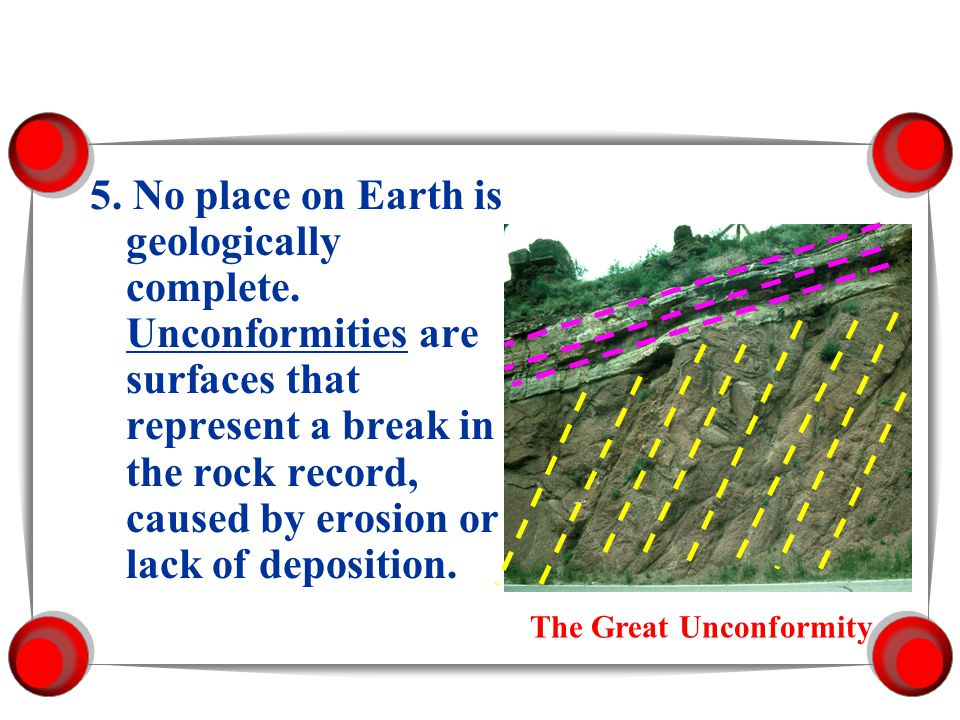 5. No place on Earth is geologically complete