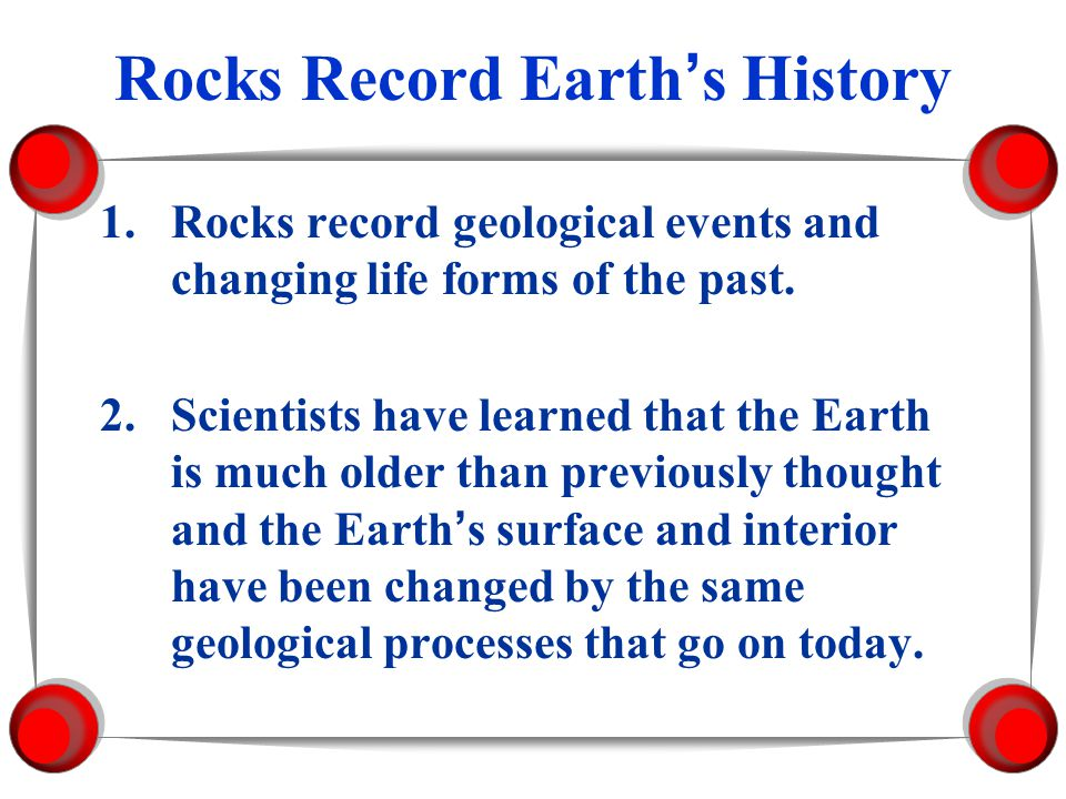 Rocks Record Earth's History