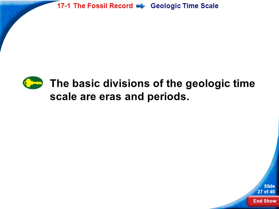 The basic divisions of the geologic time scale are eras and periods.
