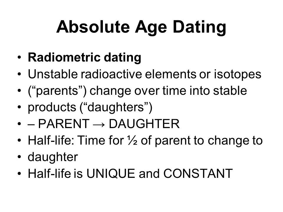 what isotopes are used in absolute dating Dating fossils – how are fossils  absolute dating is used to determine a precise age of a fossil by using radiometric dating to measure the decay of isotopes, .