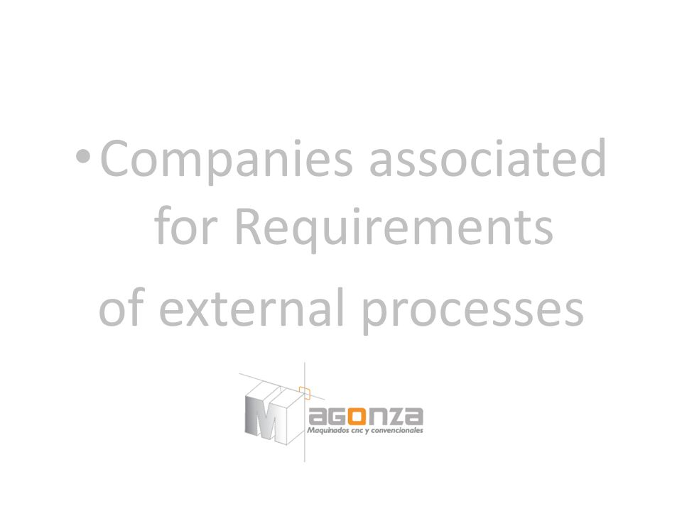 Companies associated for Requirements