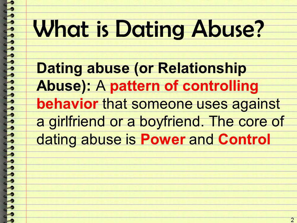 What is Dating Abuse