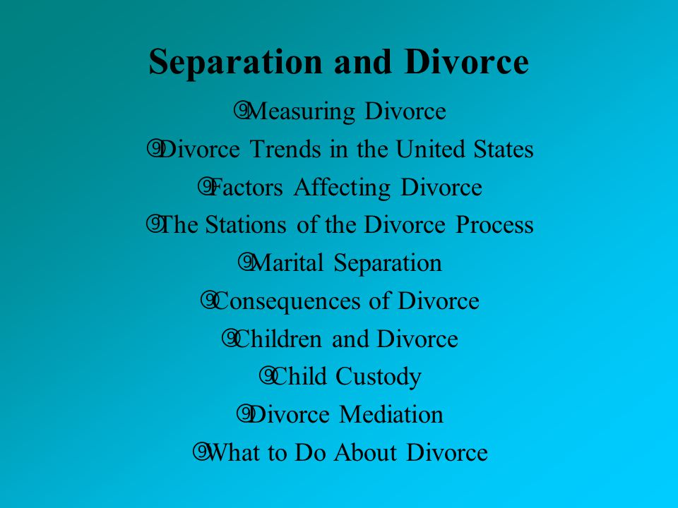 Coping marital separation