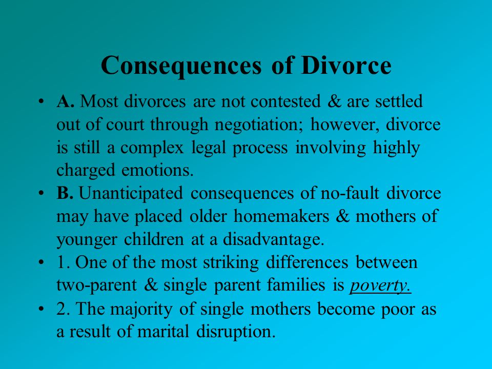 Consequences of Divorce