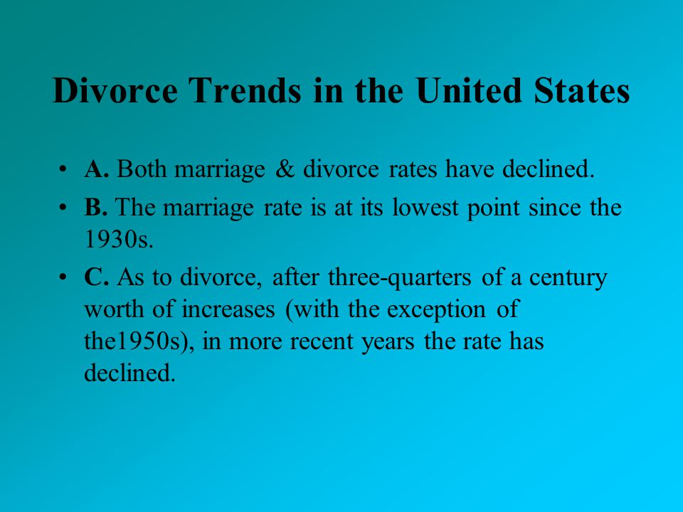 Divorce Trends in the United States