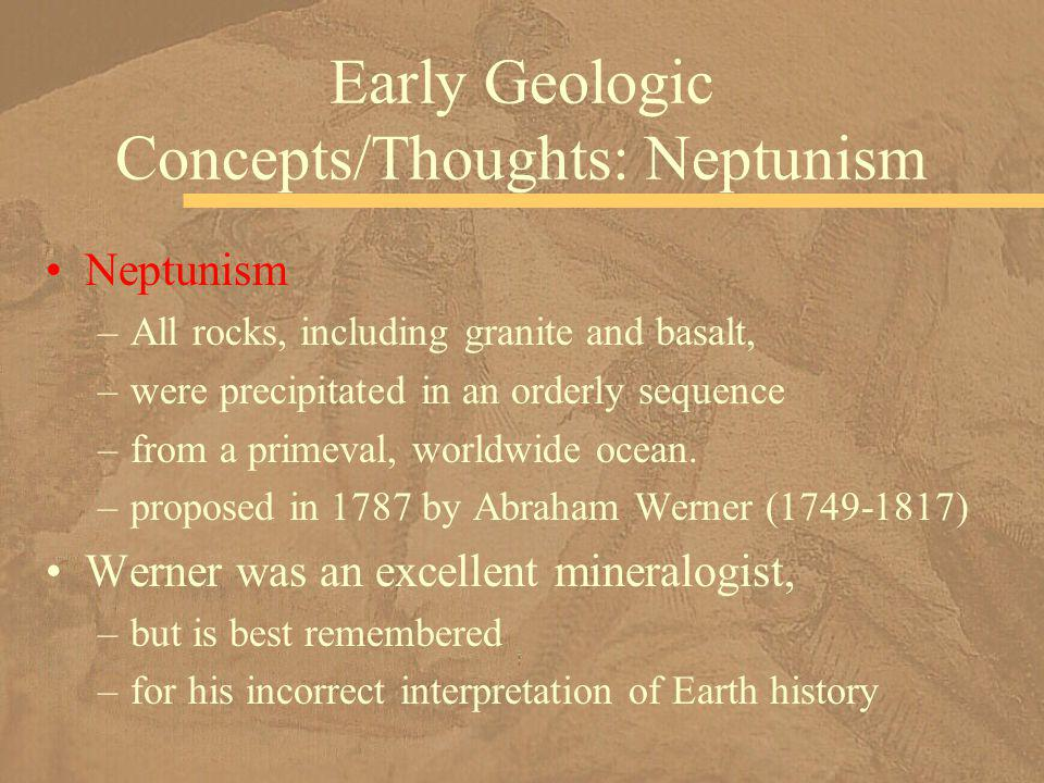 Early Geologic Concepts/Thoughts: Neptunism