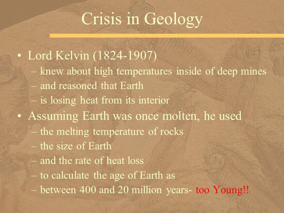 Crisis in Geology Lord Kelvin (1824-1907)