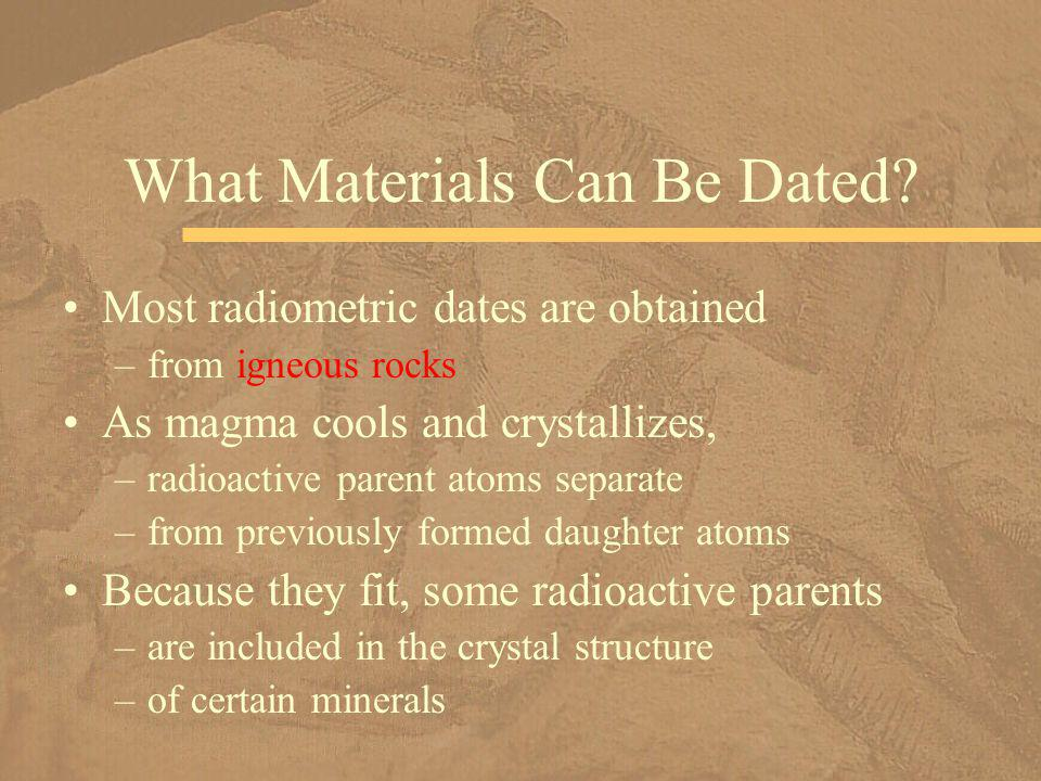 What Materials Can Be Dated