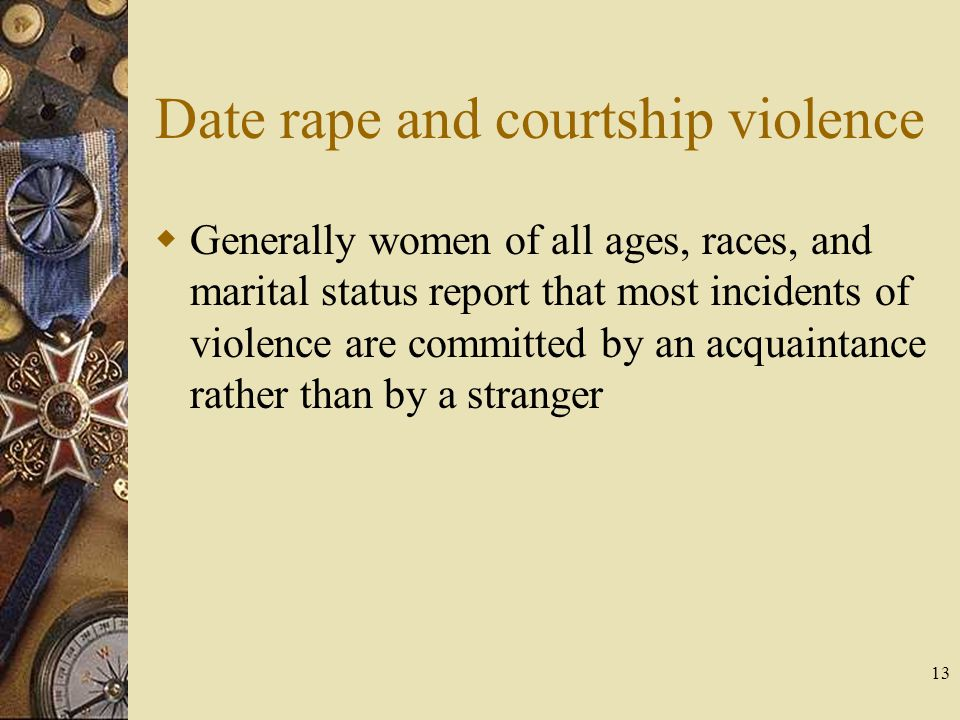 Date rape and courtship violence