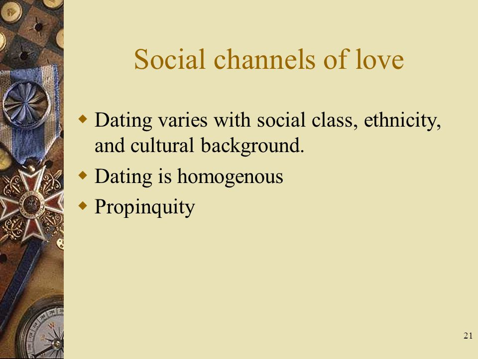 Social channels of love
