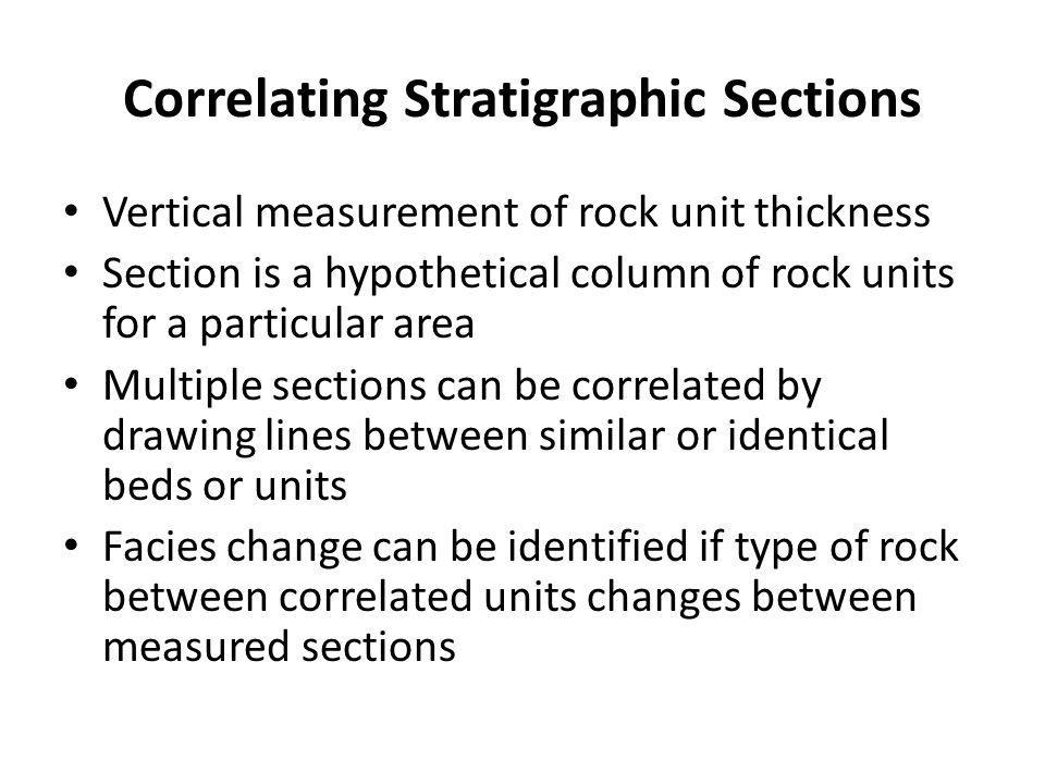 Correlating Stratigraphic Sections