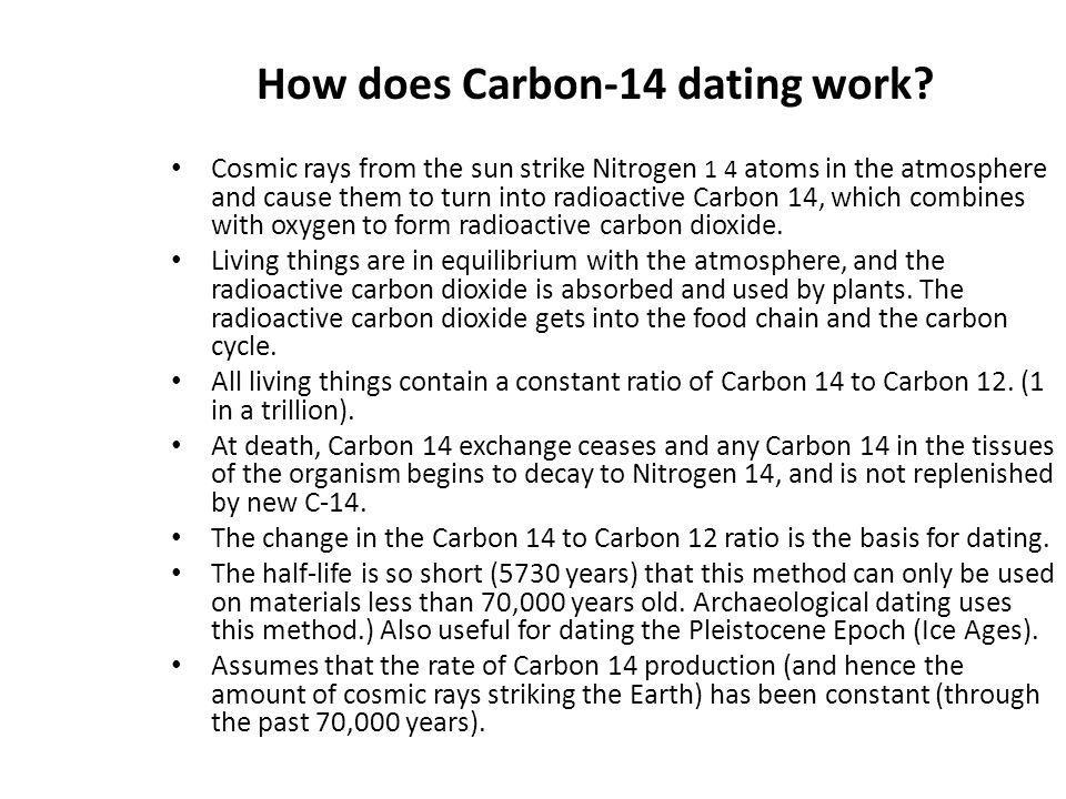 How does Carbon-14 dating work