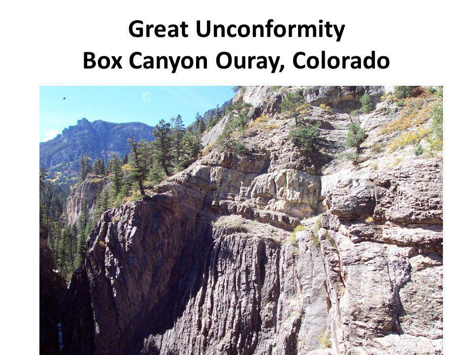 Great Unconformity Box Canyon Ouray, Colorado