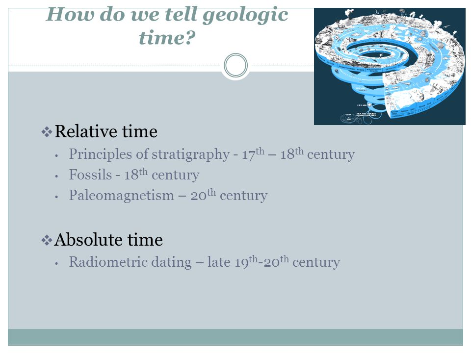 How do we tell geologic time