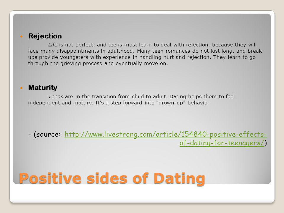 Positive sides of Dating