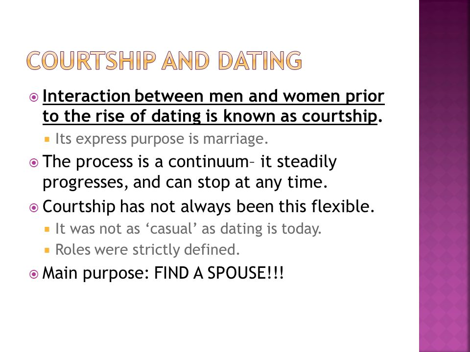 a comparison of dating and courtship Confused by the dating scene it might help to see where it came from whenever possible, i love to use the word courtship in everyday conversation with young and old alike.