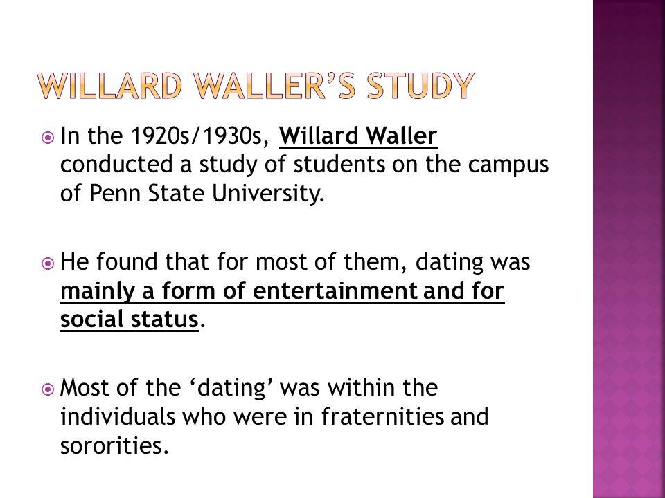 Willard Waller's Study