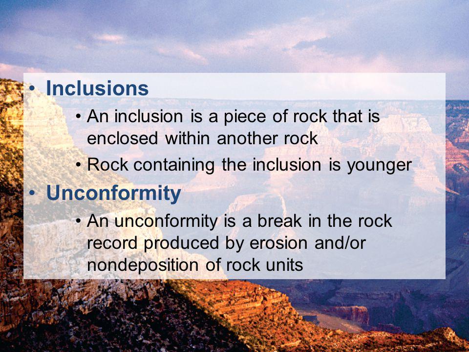 Inclusions Unconformity