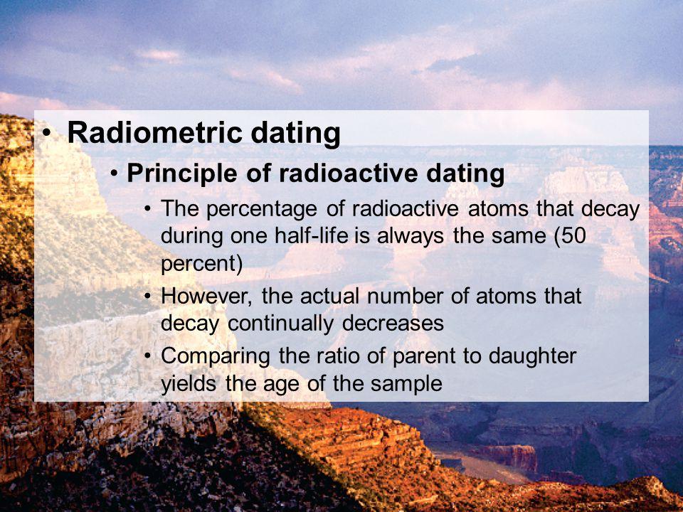 Radiometric dating Principle of radioactive dating