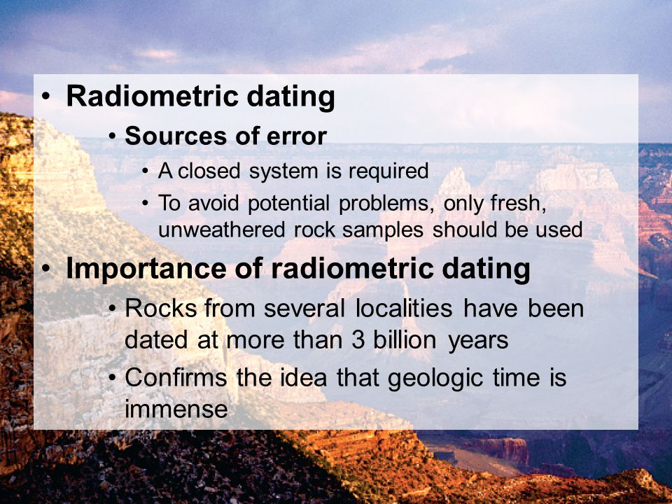 importance of radiometric dating