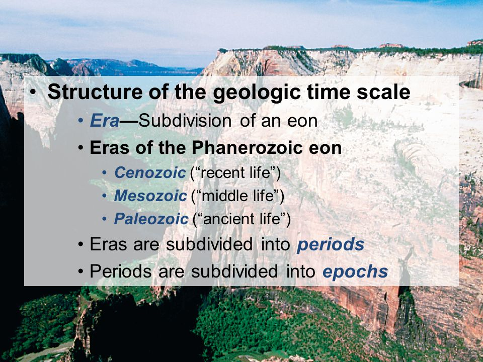 Structure of the geologic time scale