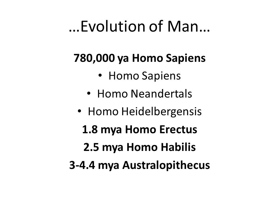 3-4.4 mya Australopithecus